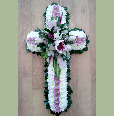Sympathy Flowers Bolton, 2ft flower cross
