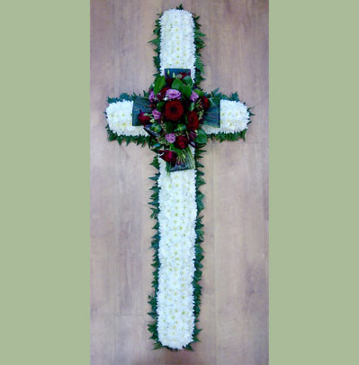 Bolton Funeral Florist, 4ft flower cross