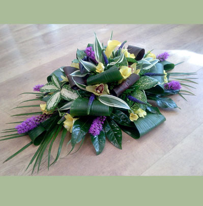Funeral Florists in Bolton, double ended arrangement