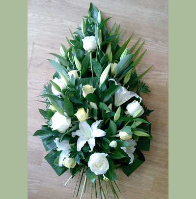 Funeral Flowers Bolton, Single ended arrangement