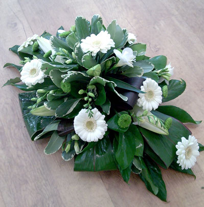 Funeral Florists in Bolton, Small double ended arrangement
