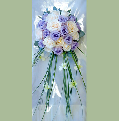 Wedding Florist in Bolton, Brides Trailing Posy Style Bouquet