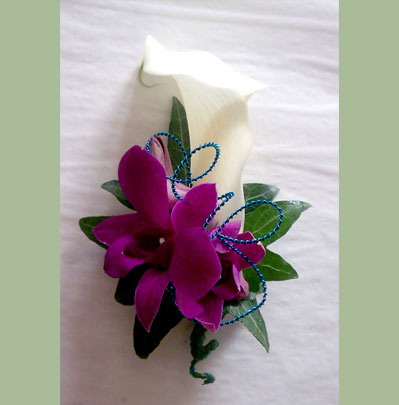 Wedding Flowers Bolton, Calla with Orchid Corsage
